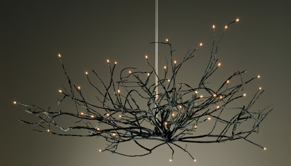 Michele Oka Doner firefly chandelier, commissioned work to be auctioned at the Naples Winter Wine Festival