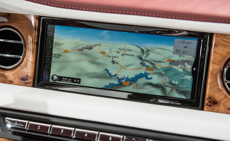 Navigation system in the new Rolls-Royce Phantom II - The Wheel World with Howard Walker