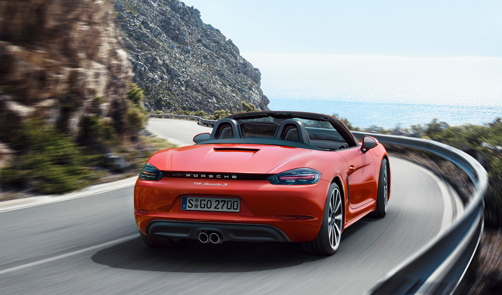 The all new Porsche 718 Boxster S - 718 Cayman Hardtop on teh way