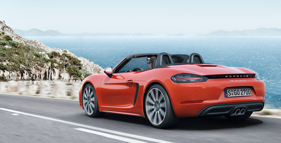 Porsche 718 Boxster S - tail lights - preview with Howard Walker
