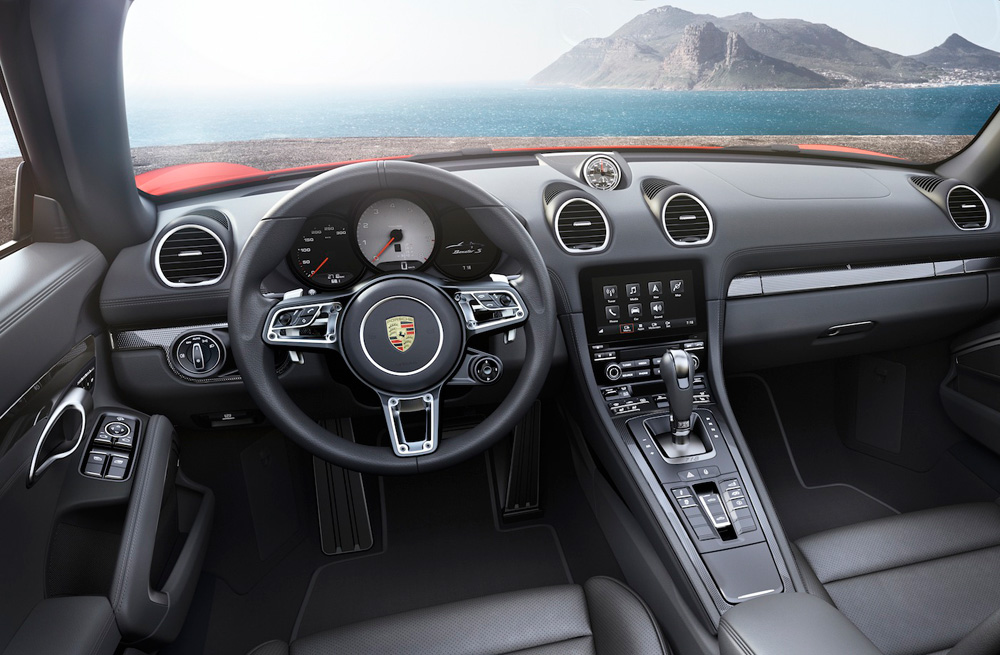 Interior of the new Porsche 718 Boxster S