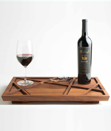 Puzzle Tray, designed for Newton Vineyard by Stephanie and Bruce Tharp