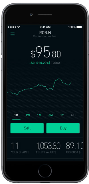 Robinhood - investment apps - free stock market trading app - New Year's Resolution Apps