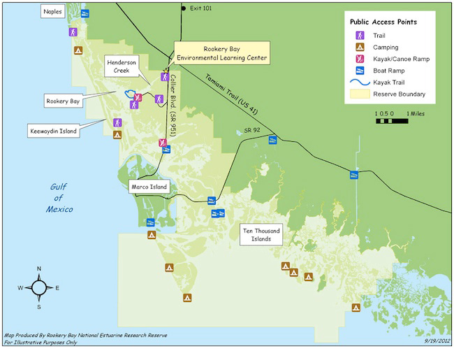 Rookery Bay map