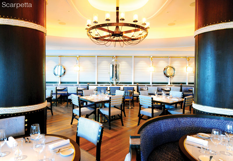 Scarpetta dinign room - Fontainbleau Miami Beach - luxury dining