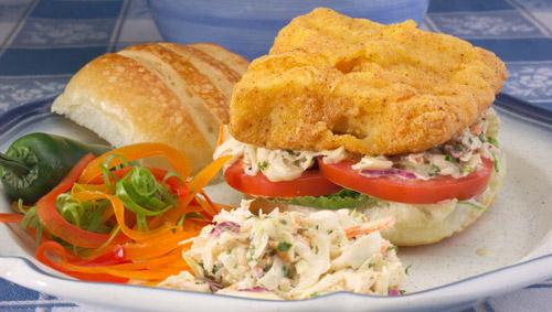Southern Fried Mahi-Mahi Sandwiches - Justin Timineri - Florida Executive Chef