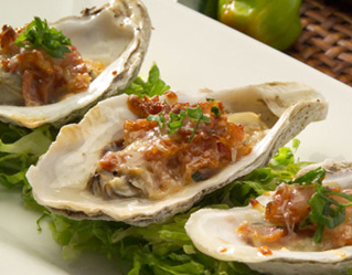 Spicy Jalapeno Bacon and Cheese Oysters - Florida's Executive Chef Justin Timineri