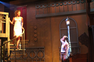 Scene from Gulfshore Playhouse production of Streetcar Named Desire, Naples, FL, Norris Center, 2012