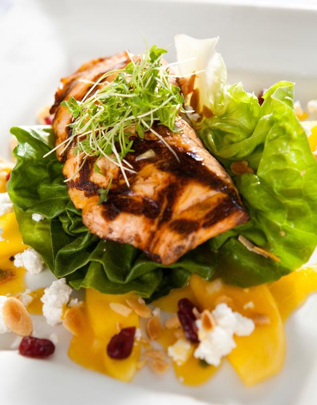 The Bostonian Salad - Handsome Harry's - Salmon and mango salad recipe