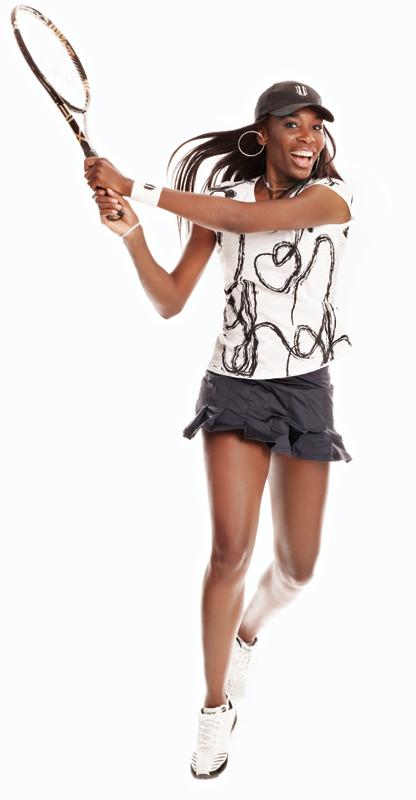 Venus Willimas - tennis superstar - EleVen clothing