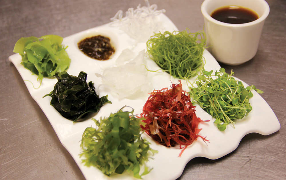 Zen Asian BBQ - Chef Koko - Napels Korean Barbecue restaurant - Zen special seaweed salad with Chef Koko's ponzu sauce