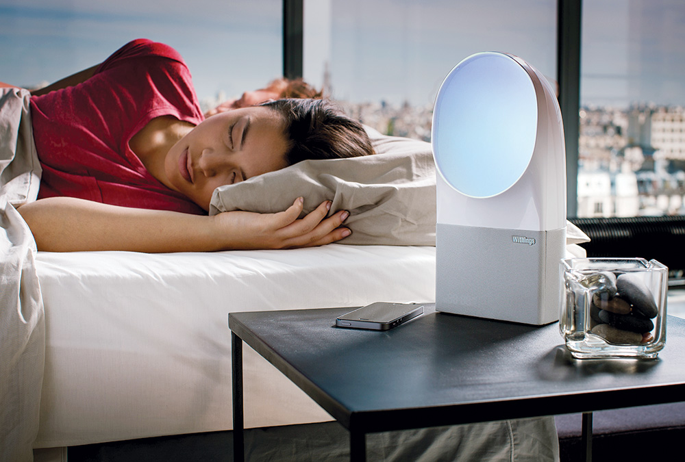 The Aura Connected Alarm Clock may quickly become the light of your life with its scientifically validated light programs designed to emulate sunrise and sunset and their impact on melatonin. Invest in the companion sleep sensor accessory and learn what you're up to when you're down for the night. ($300)