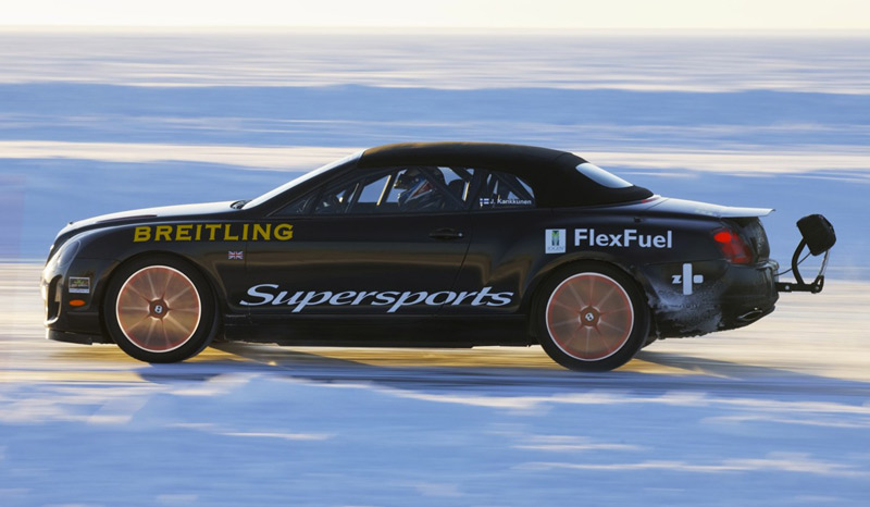 Bentley Continental Supersports Convertible - Ice Speed Record - Breilting