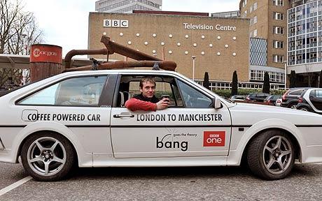 English coffee-powered car
