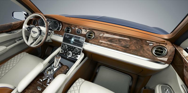 Bentley EXP 9 F SUV dash