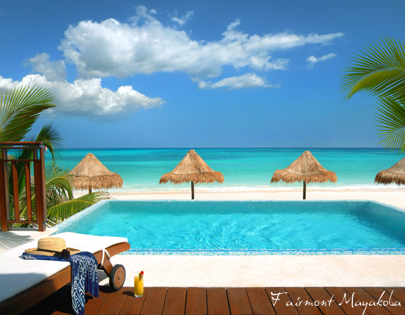 Fairmont Mayakoba - Yucatan Peninsula - poolside - Appetite for Luxury all inclusive package - Mexico luxury travel