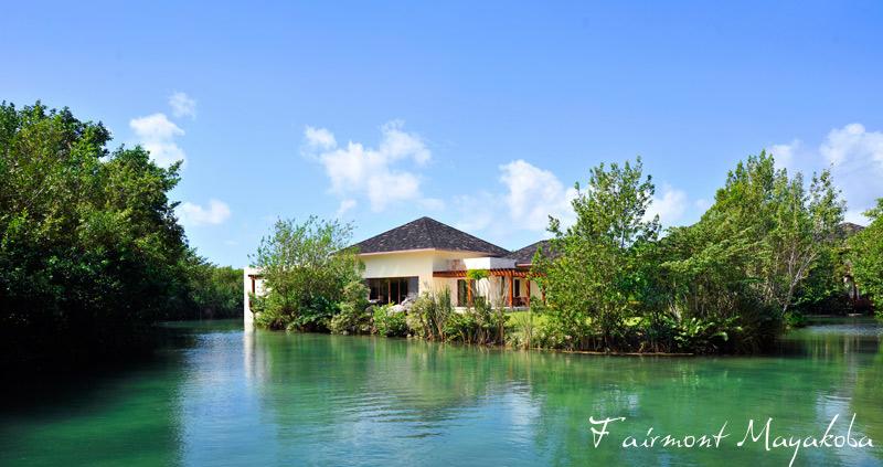 Fairmont Mayakoba's river retreat - golf course - private river and ocean villas - Mexico luxury travel