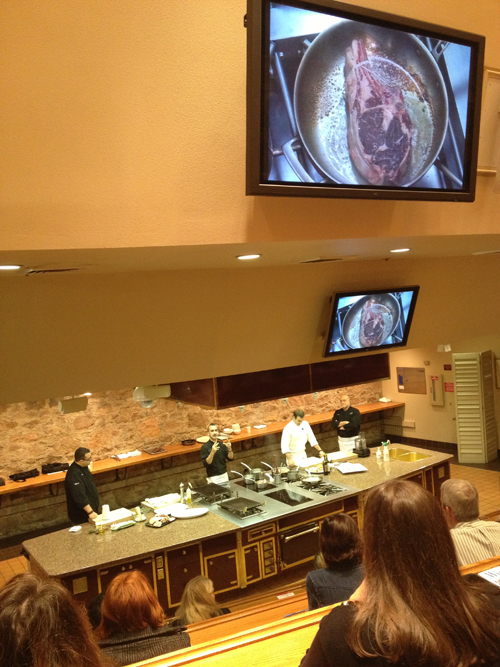Forgione family demonstration at Flavor! Napa Valley 2012