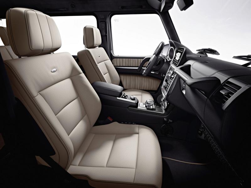 Mercedes G-Wagen - G63 AMG - interior of a super luxury SUV
