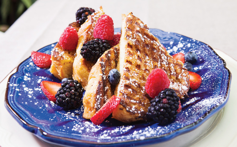 Naples Illustrated's Dining Awards - Best Breakfast - Jane's Garden Cafe - French toast with creamy vanilla, fresh berries at Jane's Garden Cafe