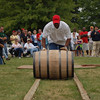 Barrel rolling relay at the Kentucky Bourbon Festival