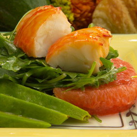 Spiny Lobster, Avocado and Grapefruit Salad recipe - from Chef Justin TImineri - Florida Department of Agriculture and Consumer Services