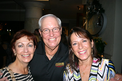 Linda and Bob Harden and Sharon Kenny at the third anniversary celebration for Sea Salt restaurant on Third Street South, Old Naples.