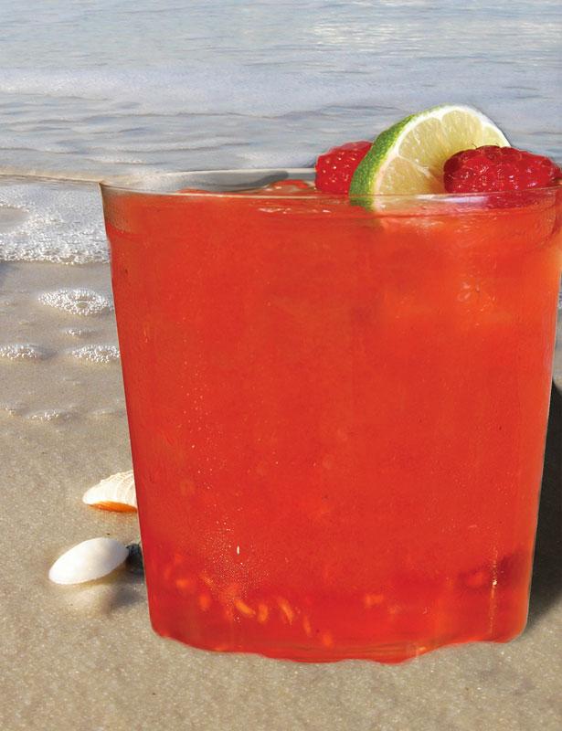 Raspberry Basil Fizz - summertime cocktails - Ritz-Carlton South Beach
