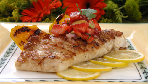 Pan-Grilled Red Snapper with Avocado-Strawberry Salsa - Florida Department of Agriculture and Consumer Services