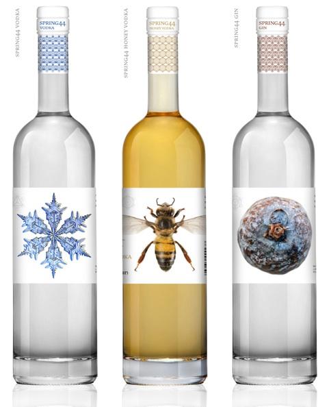 Spring 44 Vodka, Honey-Flavored Vodka and Gin