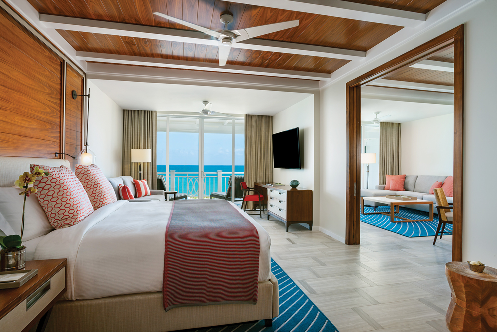 Rooms in the Hartford Wing have been remodeled to fit modern Bahamian living. Terraces overlook the ocean or the resort's lush gardens.