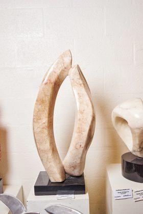 Endearment, sculpted from a boulder.