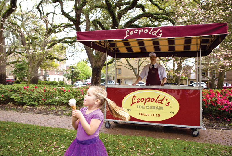 Leopold's Ice Cream stand.