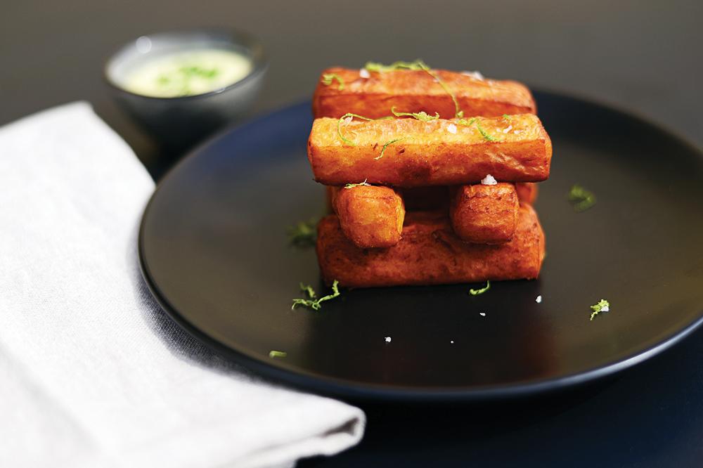 Crispy Humus with Lemon Aioli Photo Credit South Moon Photography
