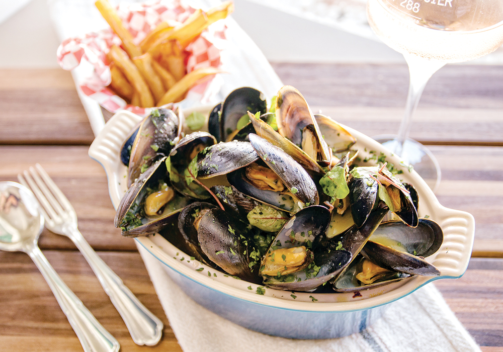 Mussels and fries Photo Credit Justin Bruns