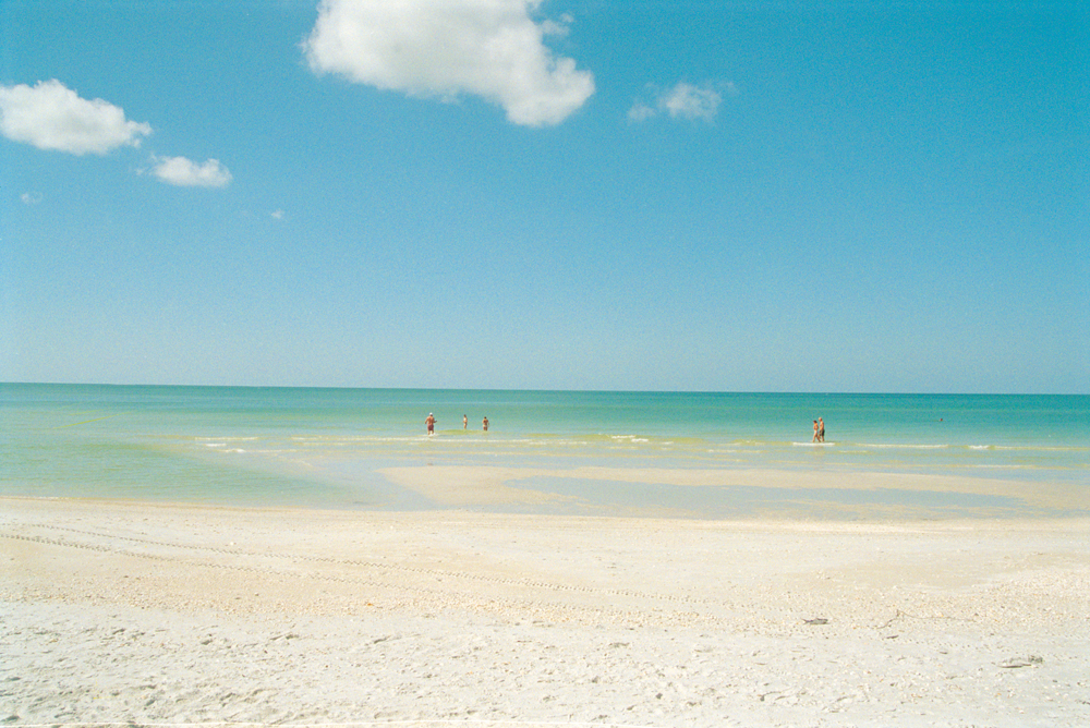 Naples Beach's white sands overlook the Gulf of Mexico.
