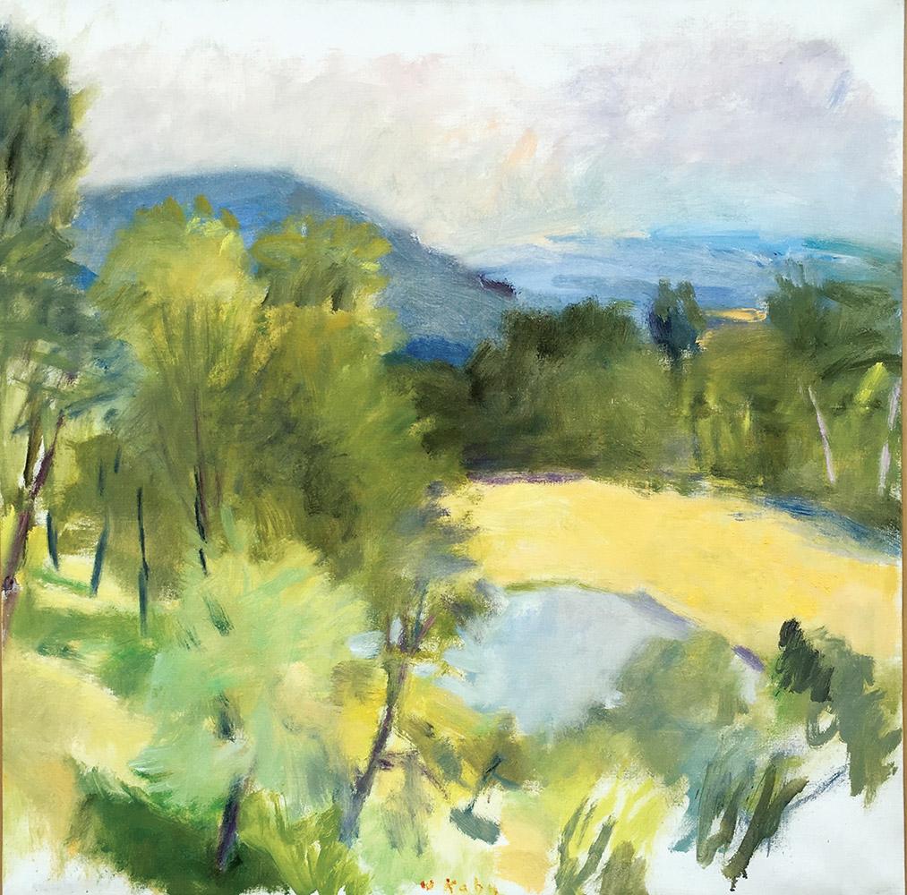 wolf-kahn-looking-over-harveys-pond-1988-oil-n-canvas-28-x-28-in-1-copy
