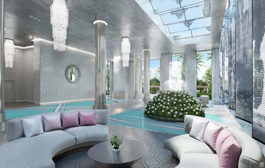 Karl Lagerfeld's design for the lobby of The Estates at Acqualina