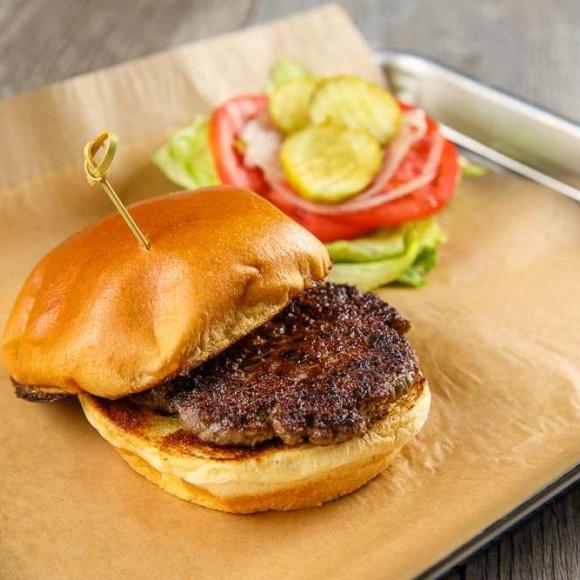 Kobe Chuck Burger patty from Jimmy P's Butcher Shop & Deli