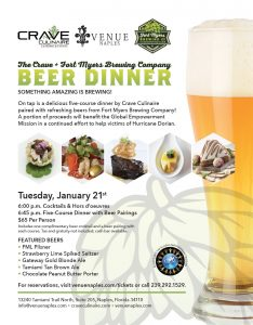 The Crave + Fort Myers Brewing Company Beer Dinner