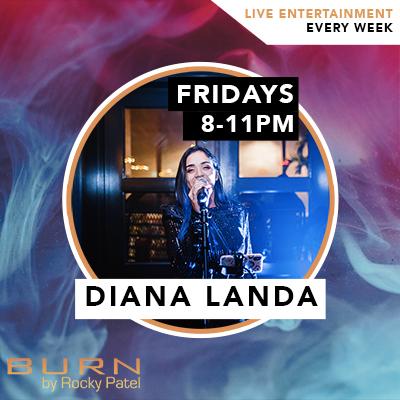 Diana Landa Live at BURN by Rocky Patel