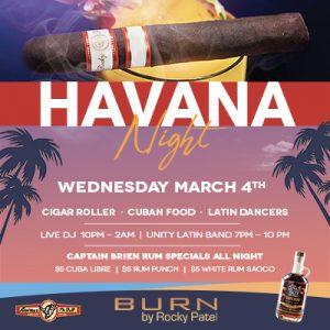 Havana Night Party at BURN by Rocky Patel Naples