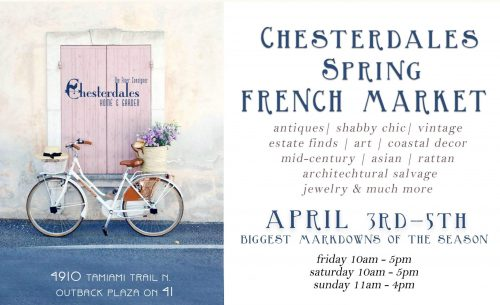 Chesterdales Home and Garden FRENCH MARKET Weekend Sale