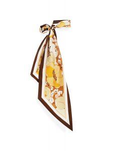 Toffee poppy printed long scarf ($210), Zimmermann