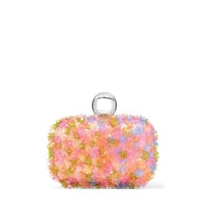 Clutch with flower embroidery ($3,995), Jimmy Choo
