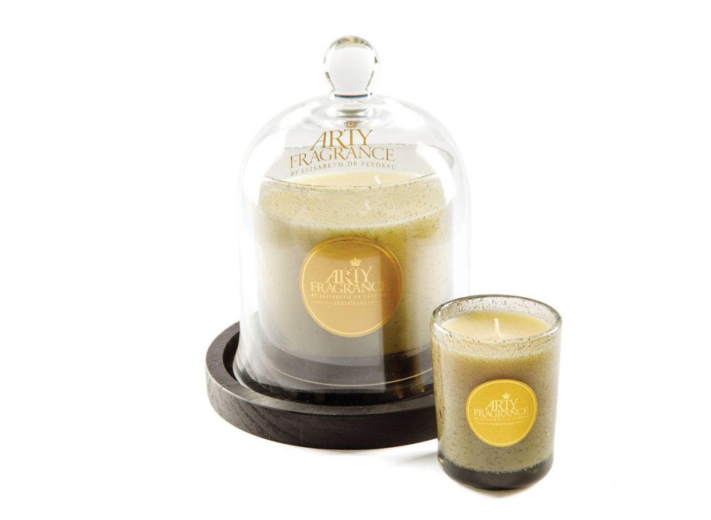 Created by historian and perfumier Elisabeth de Feydeau, the Arty Fragrance candle in Potager Royal ($95), made of hand-molded wax and enclosed in vintage-style trianon gray, pairs fine craftsmanship with a scent profile of green leaves, white fig, and basil. The Striped Cabana, Naples (the stripedcabana.com)