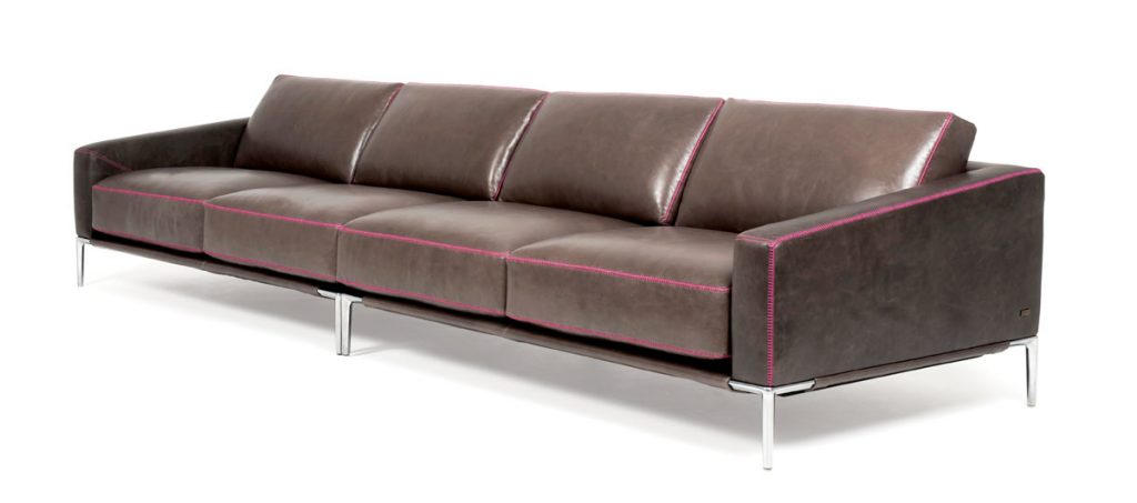 Embrace the naturally sensual smell of leather with the Clive Daniel Home Sydney sofa (price upon request), which boasts gentle curves and sloping arms, and can be customized to suit each purchaser's preferences. Clive Daniel Home, Naples (clivedaniel.com)