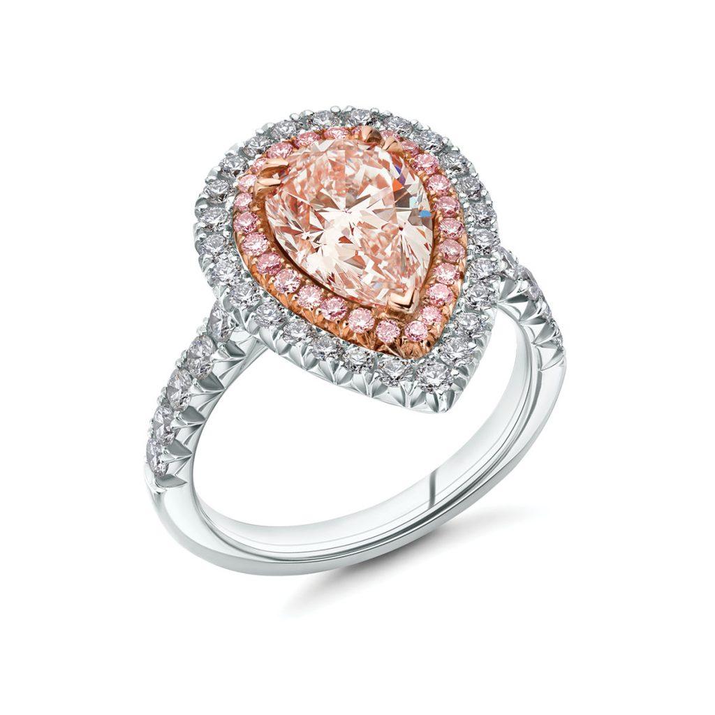 2.12-carat natural light pink diamond ring