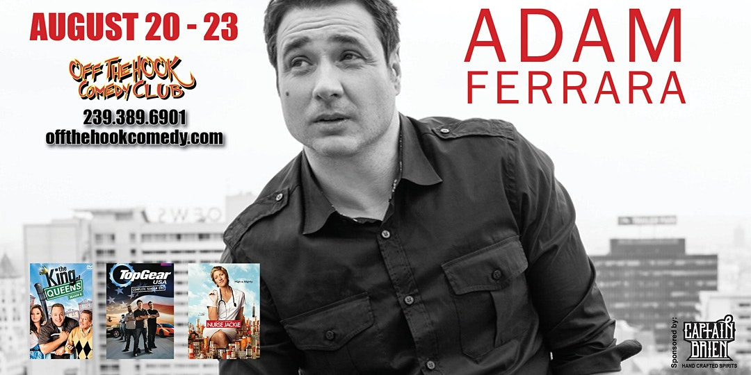 Comedian Adam Ferrara live at Off the hook Comedy club