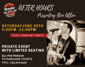 Acoustic Private Concert - Brook's Burgers